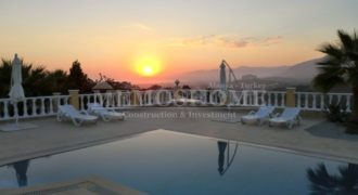 Private Villa for Sale in Kargicak, with Seaview Pool