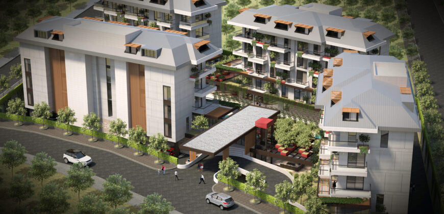 Penthouses for Sale in Oba Alanya with Green Surroundings