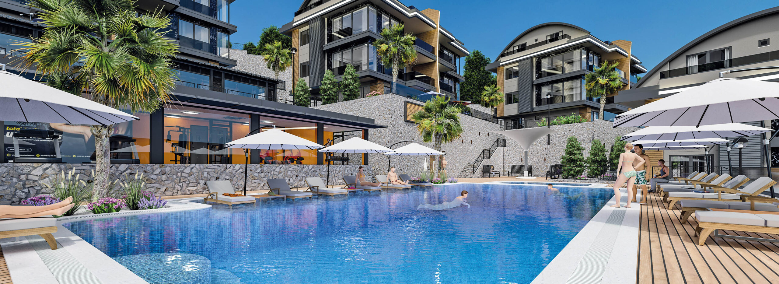 Seaview Duplexes with Large Private Gardens in Alanya