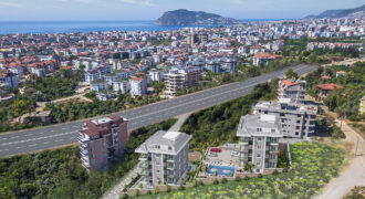 Duplexes in Oba Alanya with Green Gardens and Nature