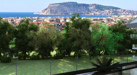 Serene Apartments with Greenery for Sale in Oba Alanya